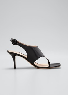 Gianvito Rossi 70mm Napa Slingback Thong Sandals