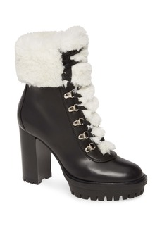 Gianvito Rossi Alaska Hiker Boot with Faux Fur Trim (Women)