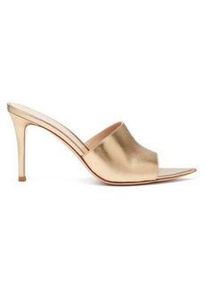 Gianvito Rossi Alise 85 grained-leather mules