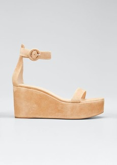 Gianvito Rossi Ankle-Strap Flatform Wedge Sandals