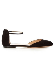Gianvito Rossi Ankle-strap suede flats
