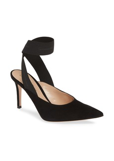 Gianvito Rossi Ankle Wrap Pointy Toe Pump (Women)