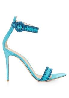 Gianvito Rossi Antigua contrast-stitch suede sandals