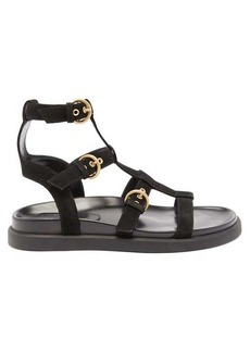 Gianvito Rossi Arena leather and suede gladiator sandals