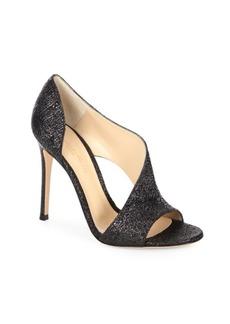 Gianvito Rossi Asymmetric Glitter Sandals