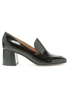 Gianvito Rossi Block-heel 60 patent-leather loafers