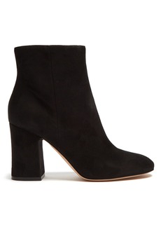 Gianvito Rossi Block-heel 85 suede ankle boots