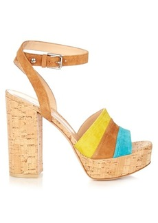 Gianvito Rossi Block-heel suede platform sandals