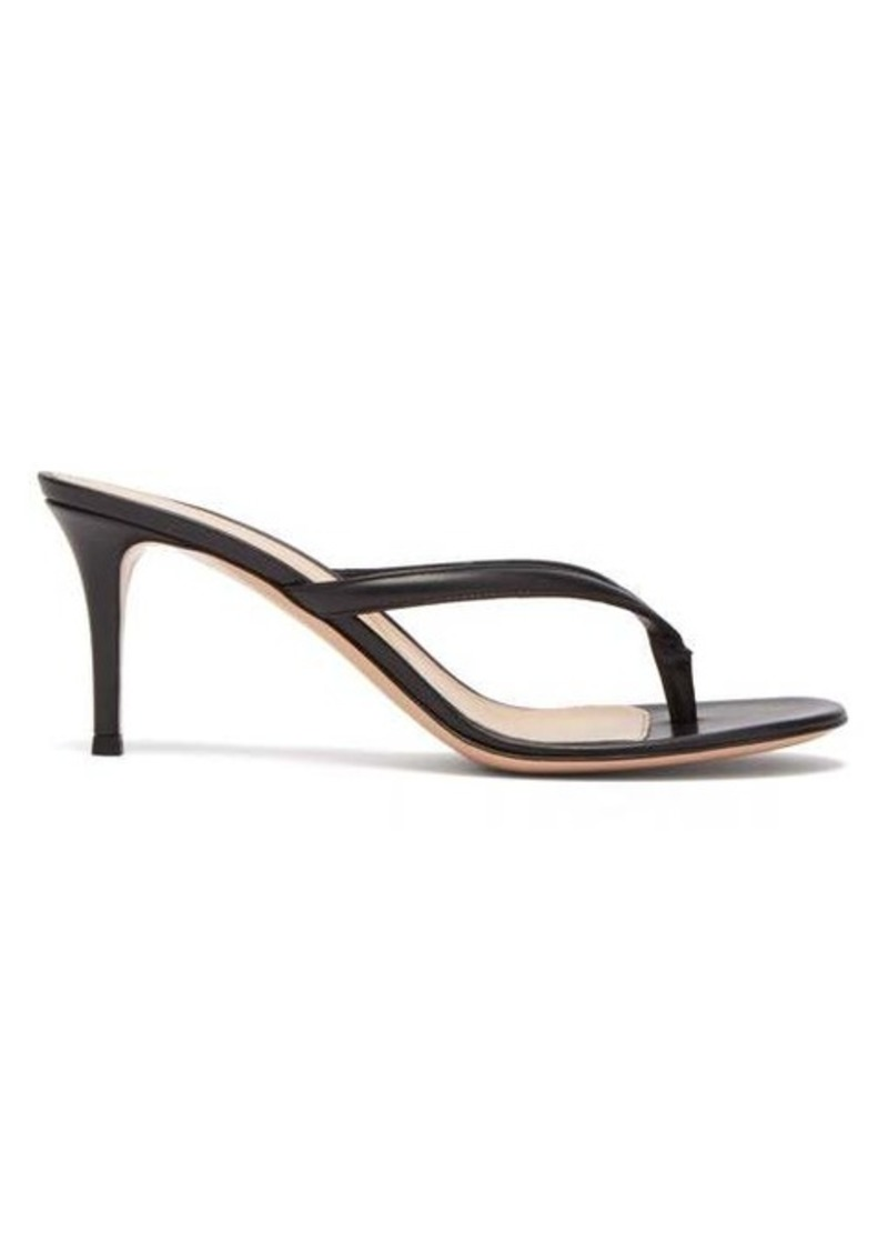 Gianvito Rossi Thong 70 leather sandals
