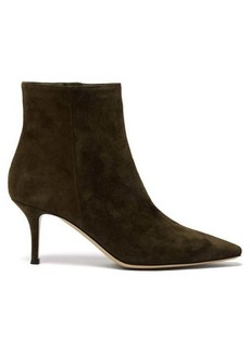 Gianvito Rossi Camoscio 70 point-toe suede ankle boots