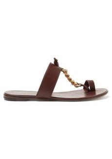 Gianvito Rossi Chain-strap leather slides