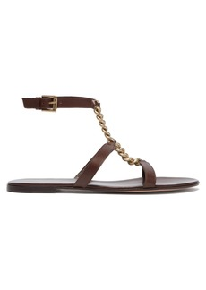 Gianvito Rossi Chain T-bar leather sandals