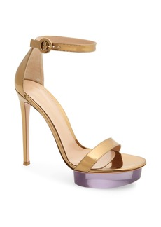 Gianvito Rossi Clear Platform Ankle Strap Sandal (Women)
