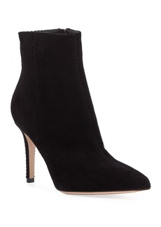 Gianvito Rossi Corduroy Pointed-Toe Ankle Booties