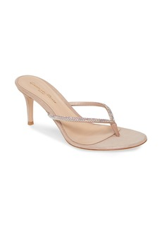Gianvito Rossi Crystal Thong Sandal (Women)