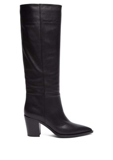 Gianvito Rossi Daenerys block-heel leather boots