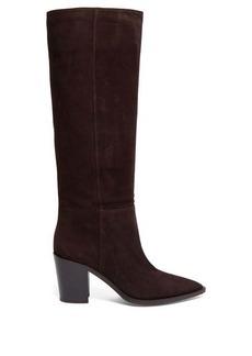 Gianvito Rossi Daenerys block-heel suede boots