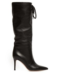 Gianvito Rossi Drawstring knee-high 85 leather boots