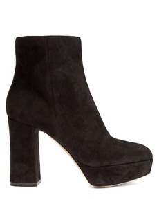 Gianvito Rossi Foley 100 suede platform ankle boots