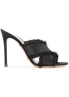 Gianvito Rossi fringed edge sandals - Black