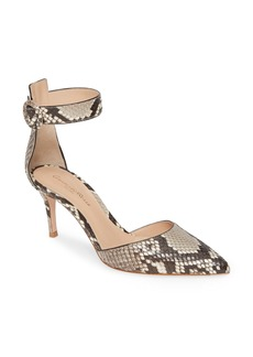 Gianvito Rossi Genuine Python Ankle Strap Pump (Women)