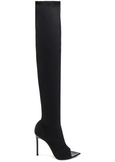 Gianvito Rossi Gotham Cuissard Peep Toe Thigh High Boots