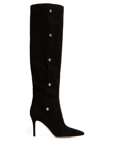 Gianvito Rossi Hazel 85 knee-high suede boots