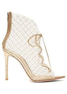 Gianvito Rossi Helmut 105 crystal-studded PVC ankle boots