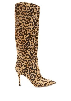 Gianvito Rossi Hunter 85 leopard-print knee-high boots