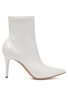Gianvito Rossi Imogen 85 leather-trimmed PVC ankle boots