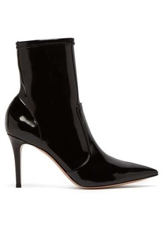 Gianvito Rossi Imogen 85 patent leather ankle boot