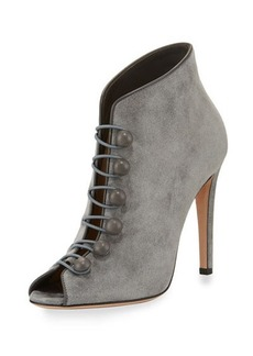 Gianvito Rossi Imperia Suede Open-Toe 105mm Bootie
