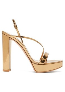 Gianvito Rossi Kimberly 85 metallic-leather platform sandals