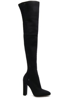 Gianvito Rossi Knit Vires Thigh High Boots
