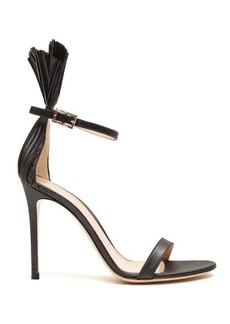 Gianvito Rossi Belvedere 105 plissé-cuff stiletto sandals