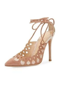 Gianvito Rossi Laser-Cut Ankle-Wrap 105mm Pump