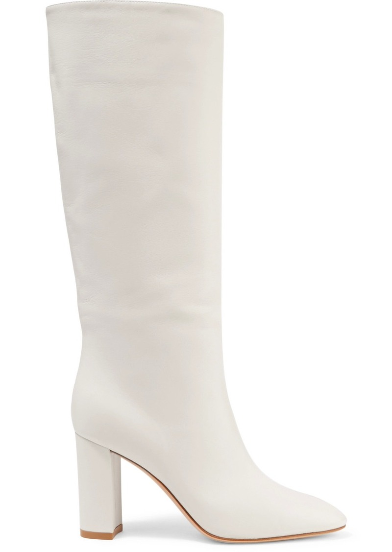 Laura 85 Leather Knee Boots - Tan Gianvito Rossi Clearance Professional vhFkTtE