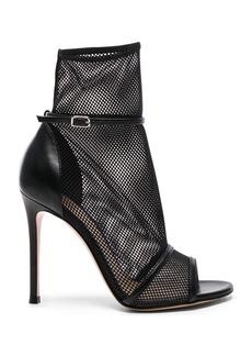 Gianvito Rossi Leather & Mesh Idol Heels