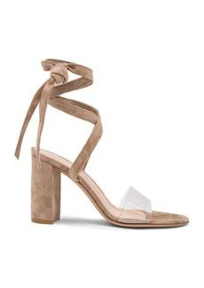 Gianvito Rossi Suede & Plexi Strappy Sandals