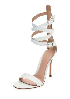 Gianvito Rossi Leather Ankle-Wrap Sandal