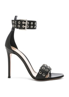 Gianvito Rossi Leather Buckle Ankle Strap Sandals