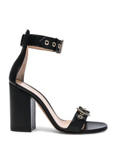 Gianvito Rossi Leather Hayes Buckle Detail Heels