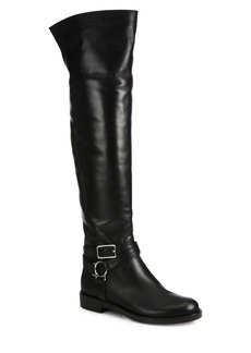 Gianvito Rossi Leather Over-The-Knee Flat Boots