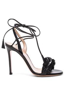 Gianvito Rossi Leather Ruffle Heels
