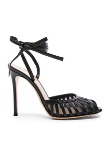 Gianvito Rossi Leather Tie Ankle Heels