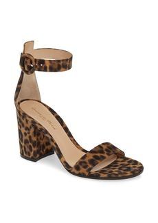 Gianvito Rossi Leopard Print Ankle Strap Sandal (Women)
