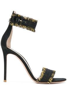 Gianvito Rossi Lola fringed sandals - Black