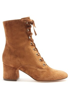 Gianvito Rossi Mackay suede ankle boots