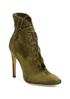 Gianvito Rossi Marais Suede Lace-Up U Booties