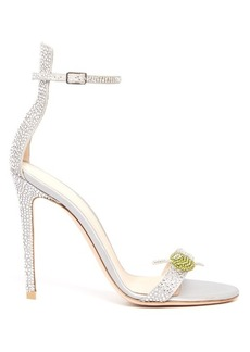 Gianvito Rossi Martini crystal-embellished satin sandals